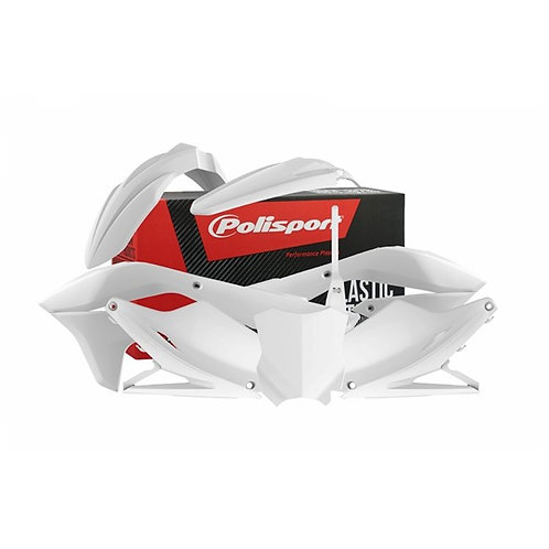 BOX KIT KAWASAKI KX450F 16-18 WHITE