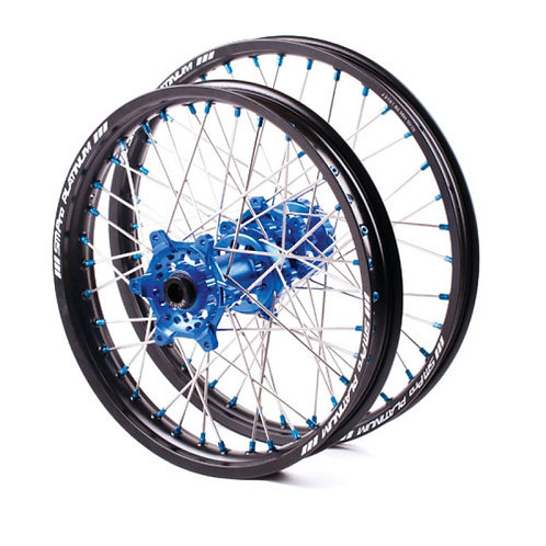 YZ SM Pro Blue and Black wheels 07>