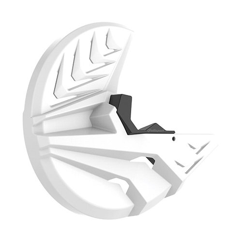 FRONT DISC AND BOTTOM FORK PROTECTOR HONDA CRF250R/450R 15-18 WHITE