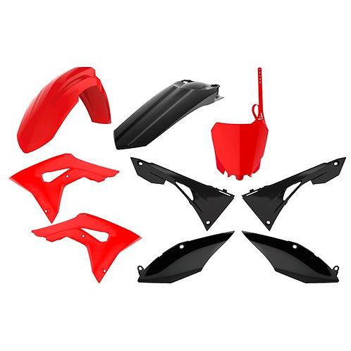 BOX KIT HONDA CRF250R 18-19, CRF450R 17-19 RED/BLACK