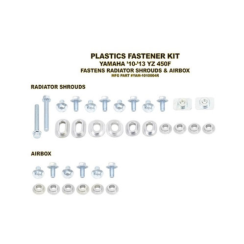 BOLT HARDWARE FASTENER KIT YAMAHA FOR RADIATOR & AIRBOX CVRS, INC ALLOY BUSHINGS