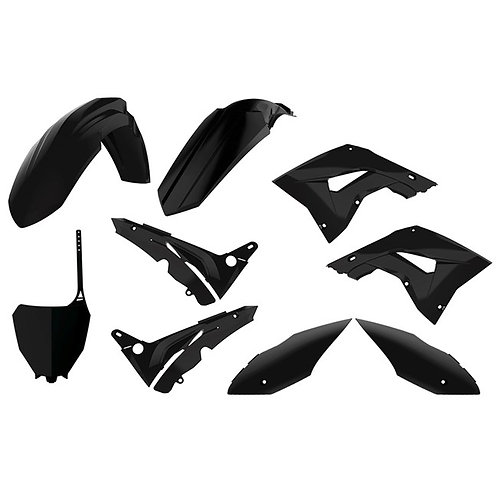 BOX KIT HONDA RESTYLE CR125/250 02-07 (RESTYLE TO CRF450 2019 STYLE) BLACK