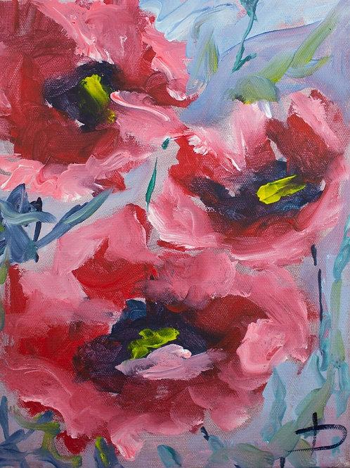 KOPIE Postkarte Blumen Mohna