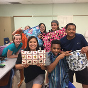Students at Barnwell Middle School made pillows for moms & babies