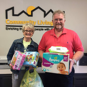Barb Griffith, CEO of Community Living, and Bruce Sowatsky, CCRB Executive Director