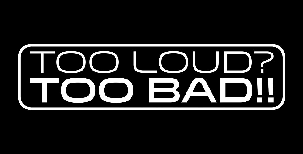Too Loud/Too Bad Decal