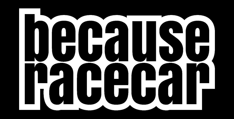 Because Racecar Outline Decal