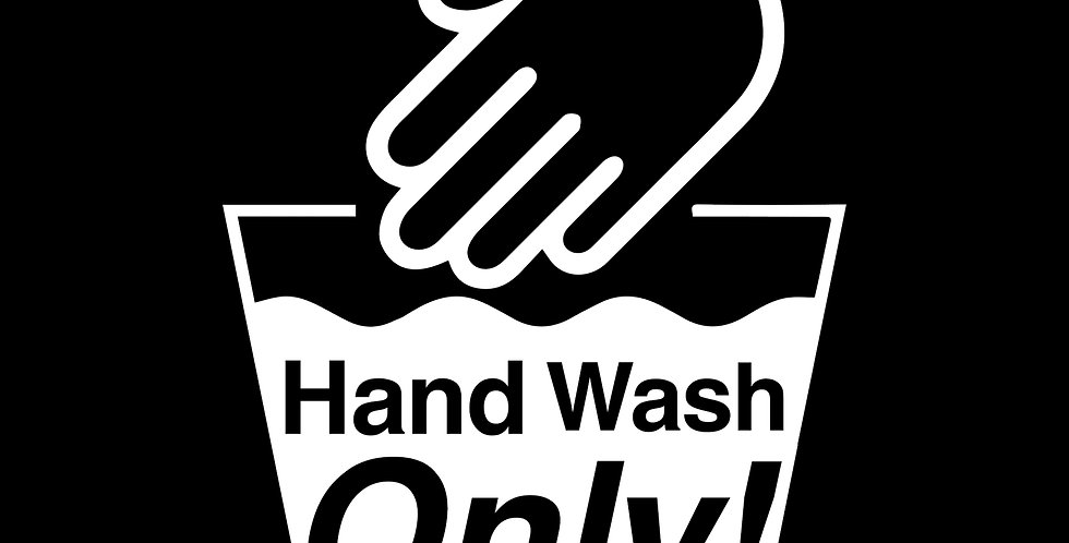 Hand Wash Only Decal