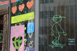 Window art painting @shinjyuku