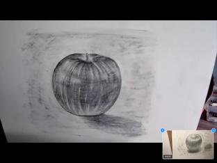 りんご 鉛筆 生徒さん作