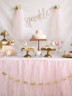 Princess+party+ideas+pink+and+gold+style