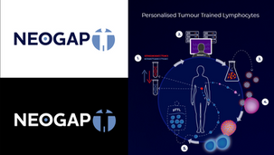 NEOGAP Therapeutics AB | Logotype, grafisk identitet och infografik