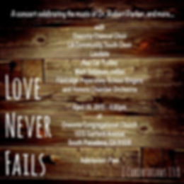 Love Never Fails Concert Flyer