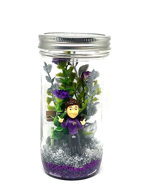 Medium Lachlan Purple Wiggle Lantern