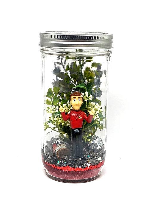 Medium Simon Red Wiggle Lantern