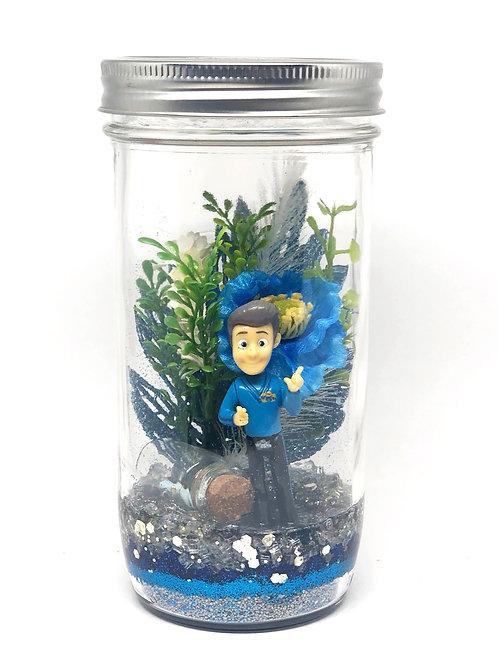 Medium Anthony Blue Wiggle Lantern