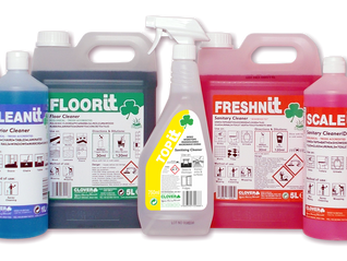 Introducing the IT range - colour-coded cleaning chemicals for less than 5p per trigger spray bottle