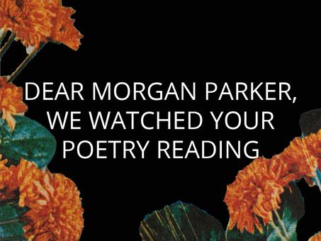 Morgan Parker: Artist Statement