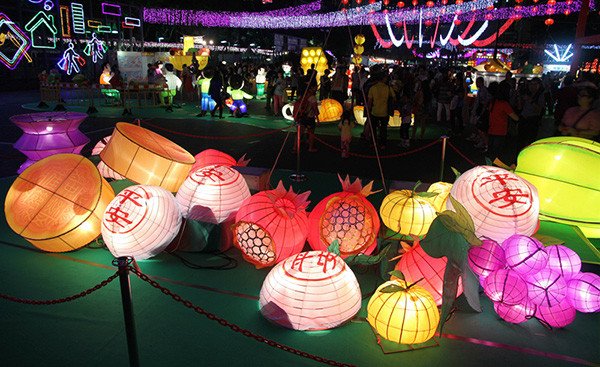 Lanterns in Victoria Park, Causeway Bay