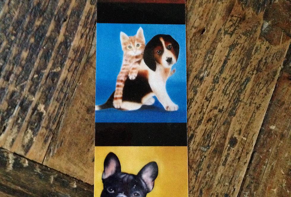 Marque page Chat et chien