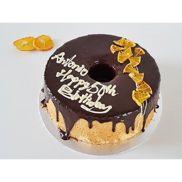 Orange and chocolate chiffon cake