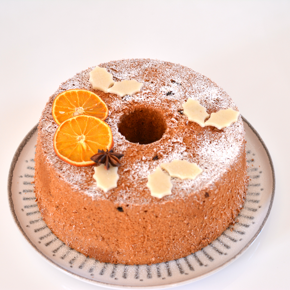 Christmas Orange Chiffon Cake