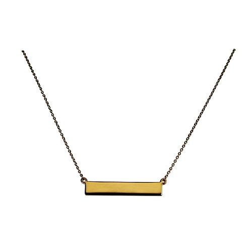 Collar con placa en oro amarillo 14k