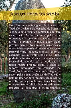 Contracapa da edição inaugural da Revista da Tradição Lvsitana