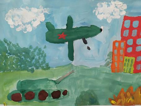 Выставка рисунков, посвященная Дню Защитника Отечества