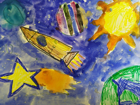 Выставка рисунков, посвященная Дню космонавтики