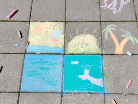 Конкурс рисунков на асфальте «Здравствуй, лето!»