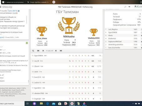 Онлайн турнир по шахматам среди жителей района Савелки