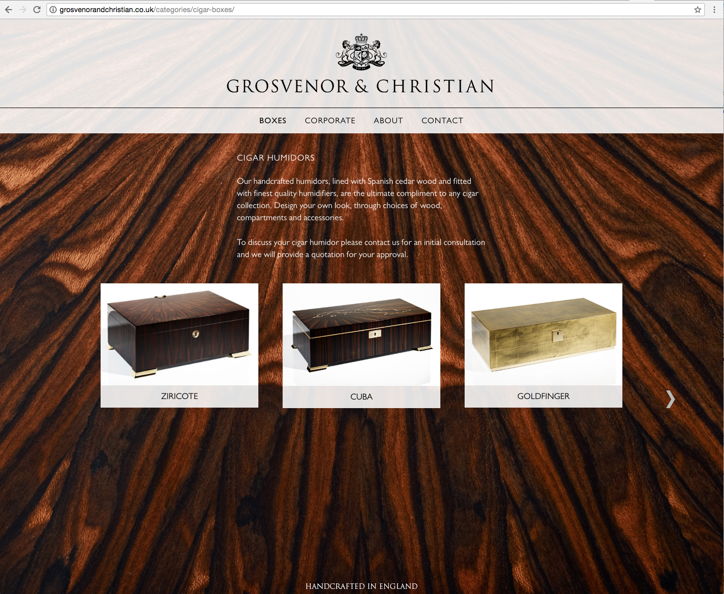 G&C website humadors