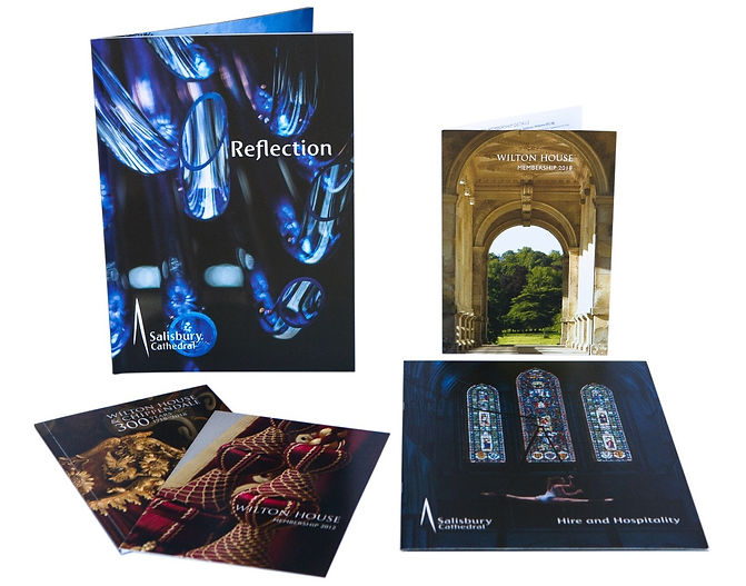 Salisbury Cathedral and Wilton House marketing design, A Drewitt Design