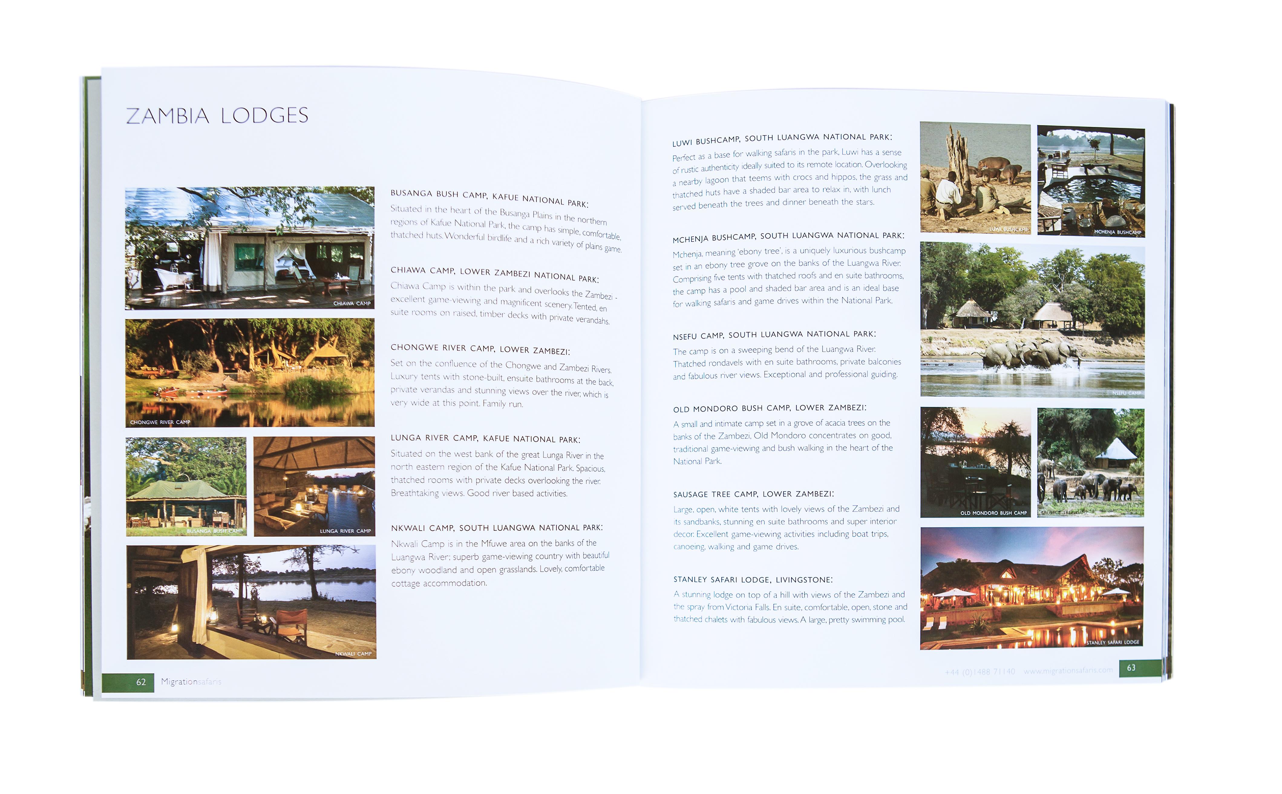Migration safaris brochure Lodges pg