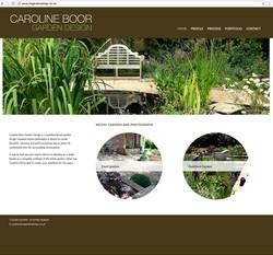 Caroline Boor website home
