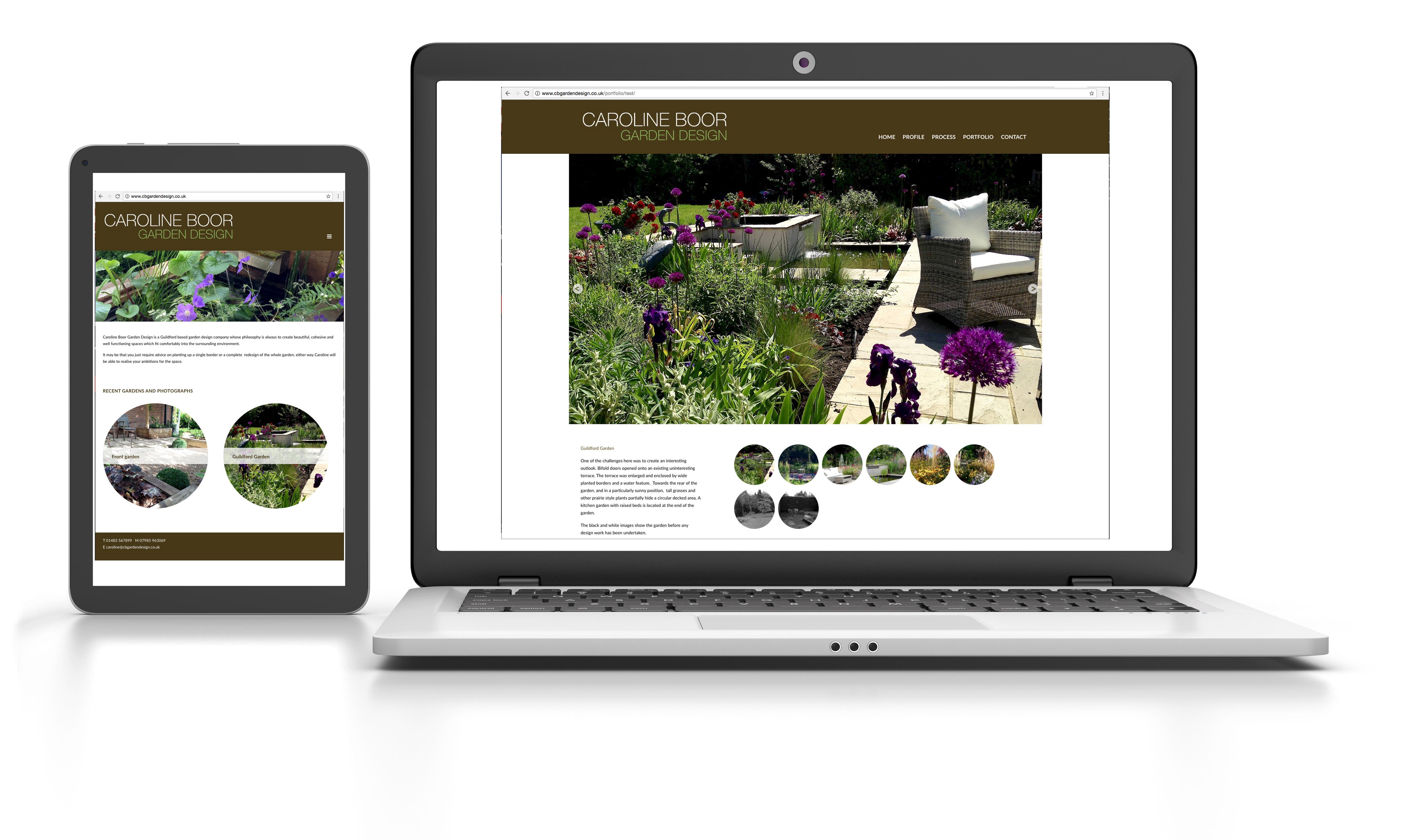 Caroline Boor Garden Design website