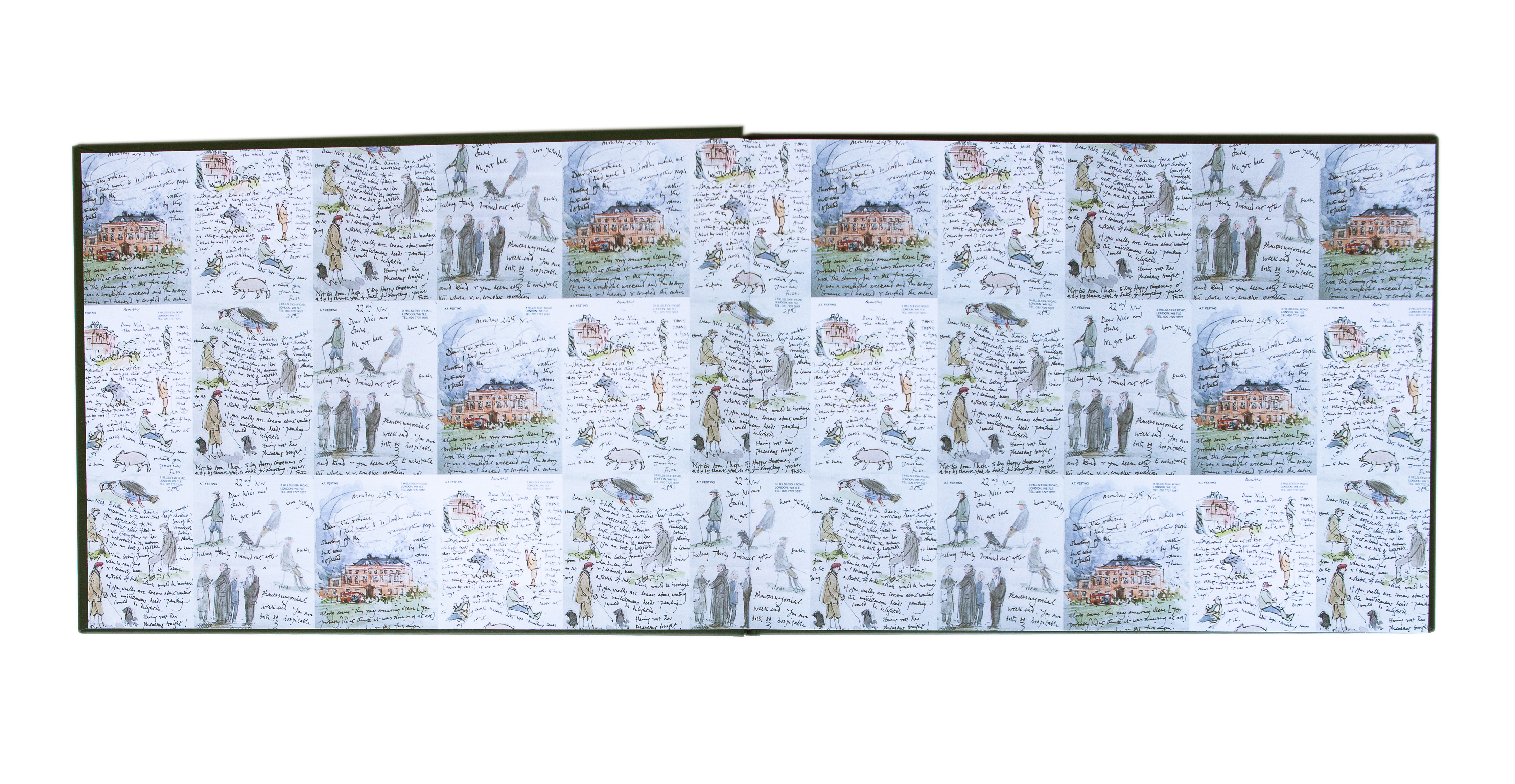 Raveningham Hall end papers
