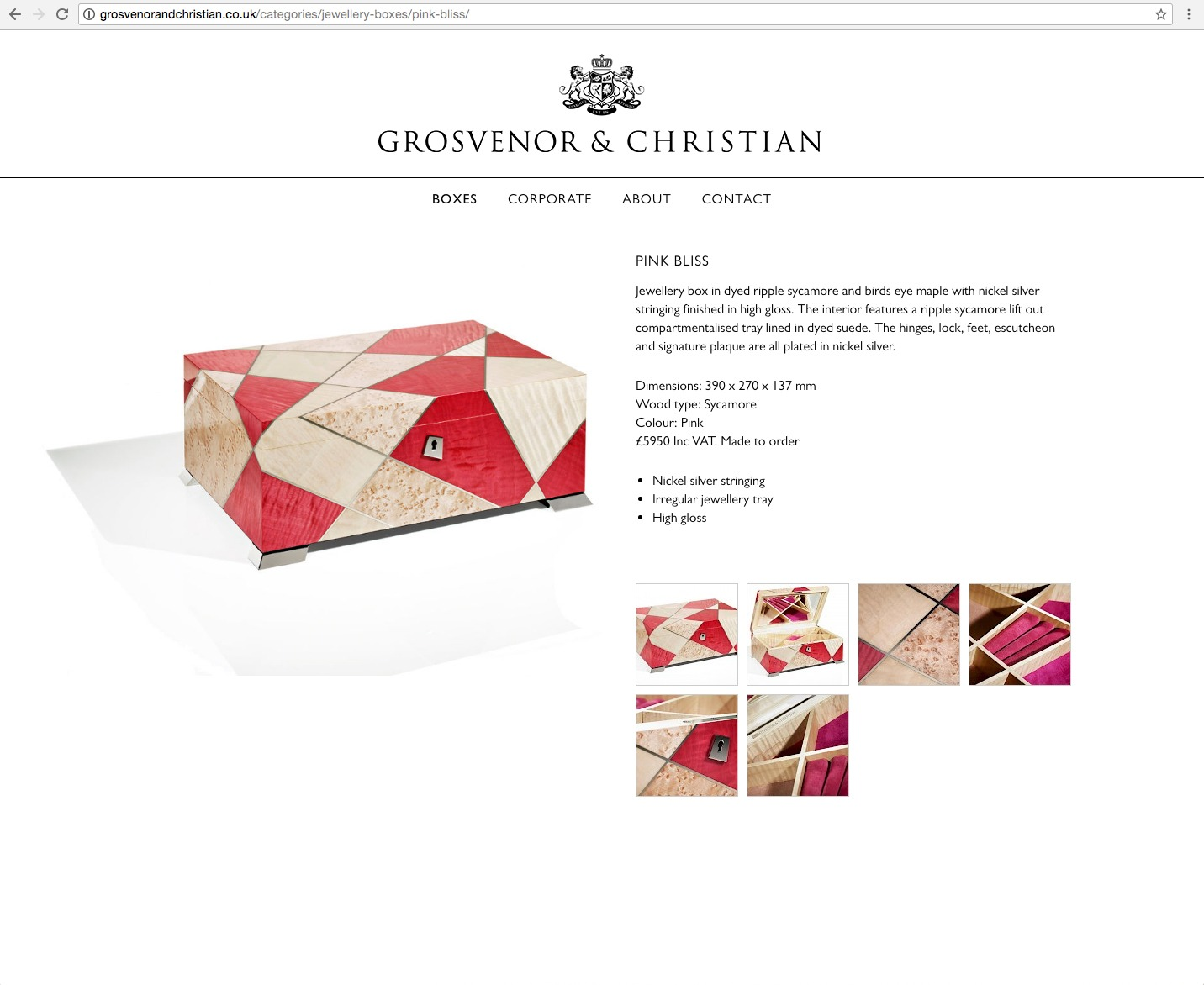 G&C website jewellery page