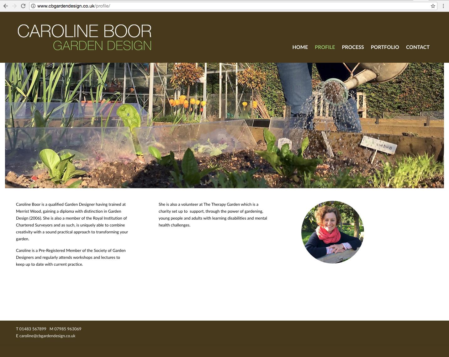 Caroline Boor website about