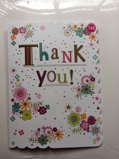 Thank you card from Drovers House