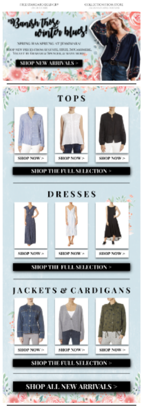 Spring Retail Email
