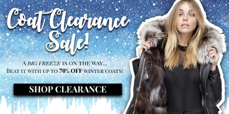 coat clearance banner