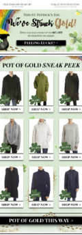St Patrick's Day Retail Email