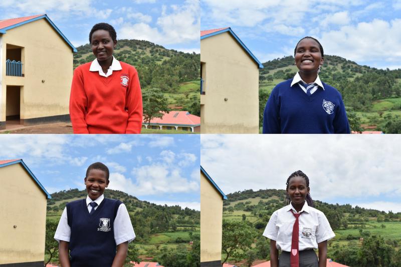 Kakenya's Dream students (clockwise from top left): Celestine Lepishoi, Linet Nenkoitoi, Sharon Tiyo, Gladys Ntoror (Images supplied by the Kakenya Center for Excellence)