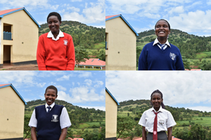 Kakenya's Dream students (clockwise from top left): Celestine Lepishoi, Linet Nenkoitoi, Sharon Tiyo, Gladys Ntoror (Images supplied by the Kakenya Center for Excellence)