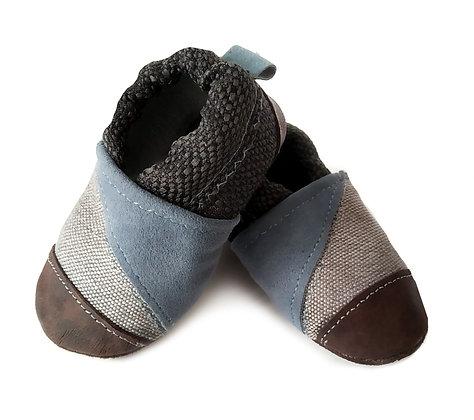 נעלי טרום הליכה כחול חום1