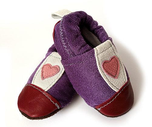 נעלי טרום הליכה סגול קטיפתי1