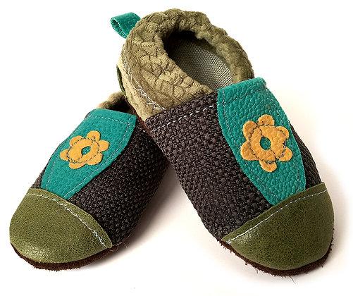 נעלי טרום הליכה טורקיז פרח צהוב