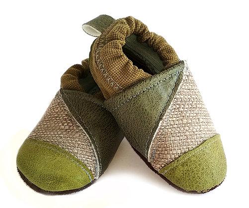 נעלי טרום הליכה אפור ירוק1